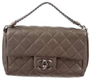 Chanel 2015 Metallic Chain Handle Flap Bag