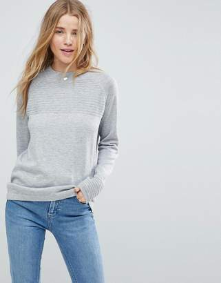 Asos DESIGN Sweater in Eco Yarn with Ripple Stitch
