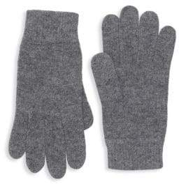 Portolano Ribbed Trim Knit Gloves
