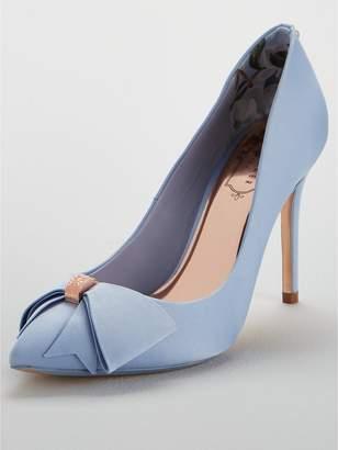 0367375290f83 Ted Baker Skalet 2 Bow Heeled Shoe - Blue