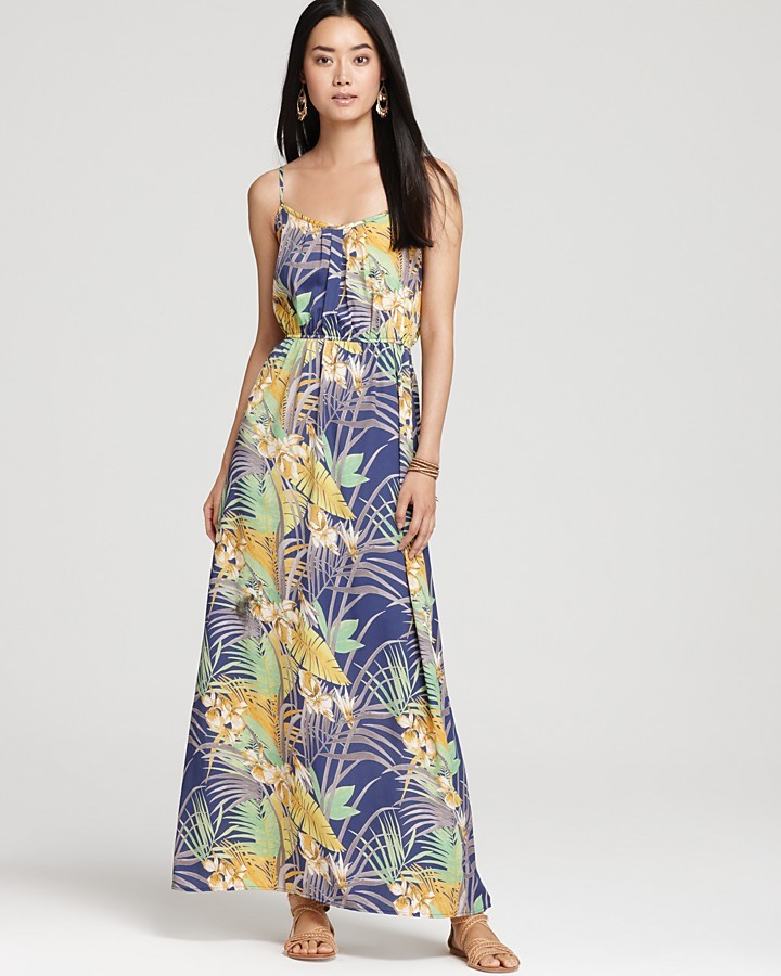Aqua Dress - Tropical Maxi