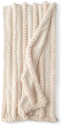 Fabulous Furs Blush Knitted Faux-Fur Throw Blanket