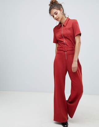 Bershka pocket front boiler suit