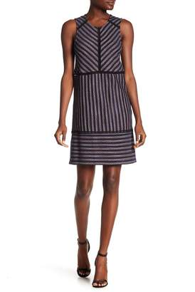 BCBGMAXAZRIA Stripe Jacquard Knit Dress