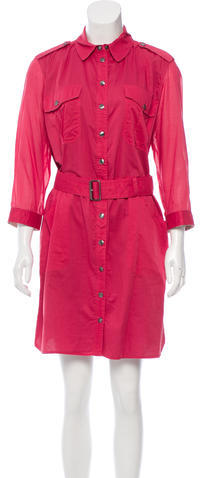 Burberry Burberry Brit Belted Button-Up Shirtdress