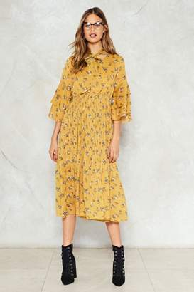 Nasty Gal Tier We Grow Floral Dress
