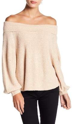 Free People Edessa Off-the-Shoulder Knit Sweater