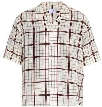 Dunhill Short-sleeved check-print silk shirt