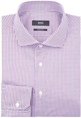 HUGO BOSS Textured Regular Fit Shirt