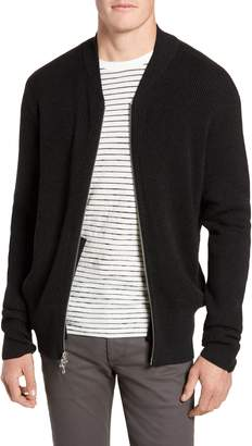 Rag & Bone Andrew Zip Front Merino Wool Sweater