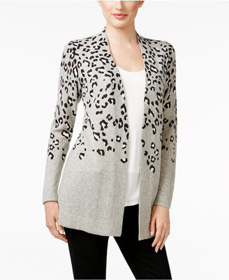 Charter Club Cashmere Animal-Print Cardigan, Only at Macy's $179 thestylecure.com