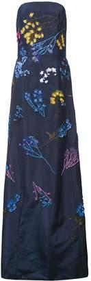 Carolina Herrera strapless A-line floral dress