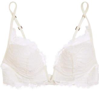 Desert Rose Lace Padded Bra - White