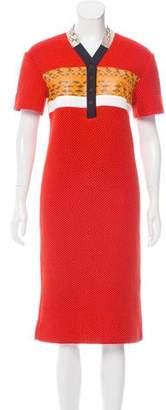 Proenza Schouler Snakeskin-Accented Midi Dress