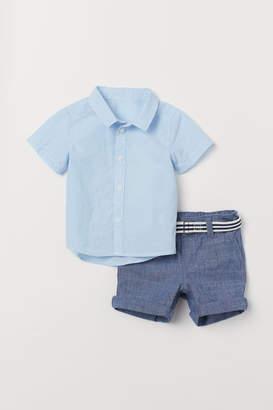 H&M Shirt and shorts