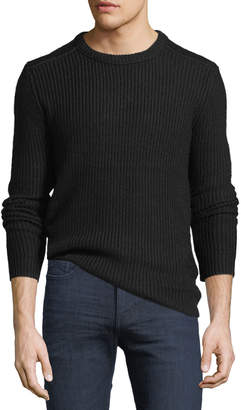 Velvet Ribbed Crewneck Sweater