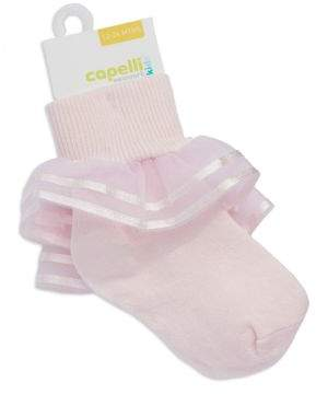 Capelli New York Newborn Girls 0-9 Months Organza Socks