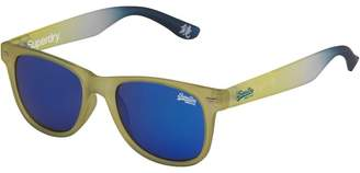 Superdry Superfarer Blue Tinted Wayfarer Sunglasses Yellow/White/Blue