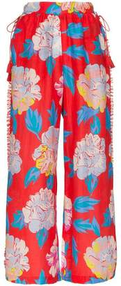 A Peace Treaty talla floral print trousers