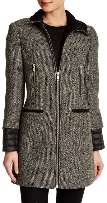 7 For All Mankind 7 For All Mankind Tweed Donegal Wool Coat