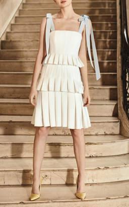 Carolina Herrera Bridal Hildie Pleated Dress