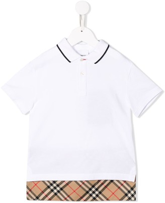 Burberry Hammond check polo shirt