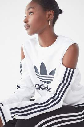 adidas Cut-Out Crew-Neck Sweatshirt