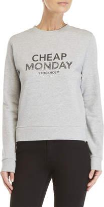 Cheap Monday Win Sweat Doodle Logo Sweatshirt