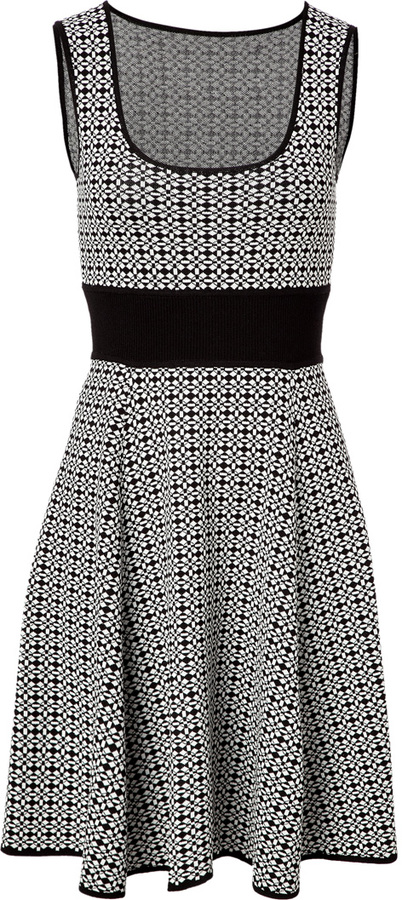 Catherine Malandrino Knit Two-Tone Dress