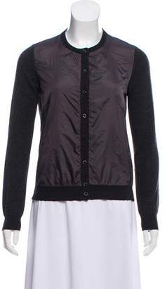 Moncler Scoop Neck Button-Up Cardigan
