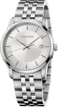 Calvin Klein Men's Swiss Infinite Stainless Steel Bracelet Watch 42mm K5S31146 $260 thestylecure.com