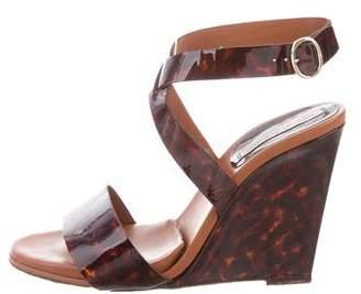 Diane von Furstenberg Patent Leather Wedges