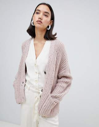 Selected chunky knit cardigan