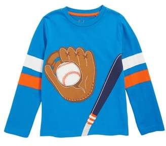Boden Mini Baseball Applique T-Shirt