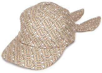 Burberry monogram print baseball cap