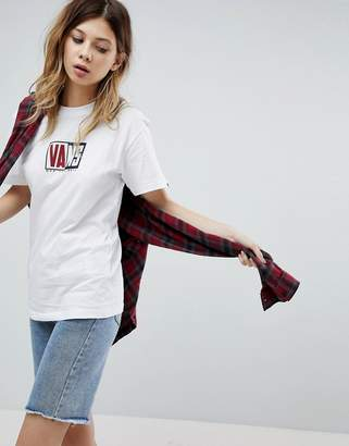 Vans Oversized T-Shirt With Logo In White