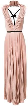 Rochas pleated open back dress