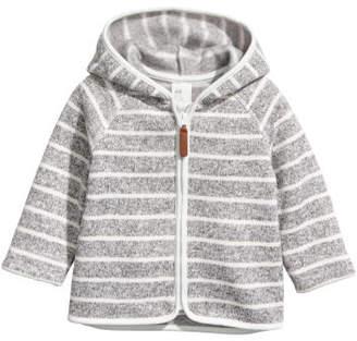 H&M Knit Fleece Hooded Jacket - Gray