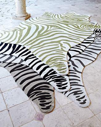 Horchow Maya Zebra Indoor/Outdoor Rug, 8' x 10'
