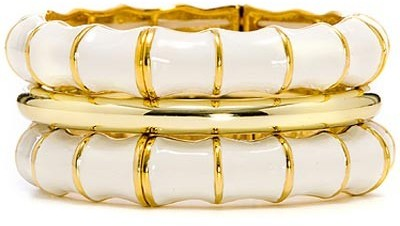Amrita Singh White Bangle Set