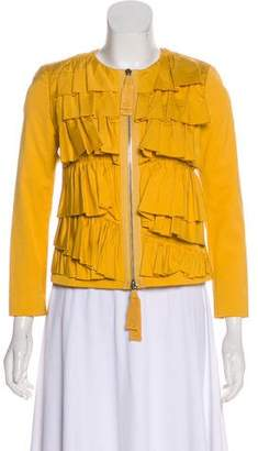 3.1 Phillip Lim Ruffle Accent Zip-Up Jacket
