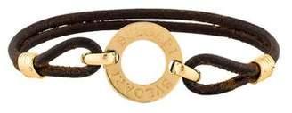 Bvlgari Logo Leather Bracelet