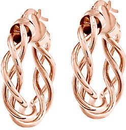 "QVC 1"" Polished Braided Hoop Earrings, 14K"