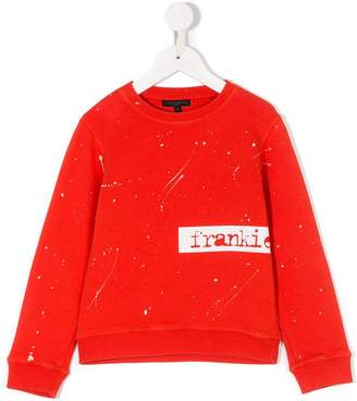 Frankie Morello Kids paint splatter sweatshirt