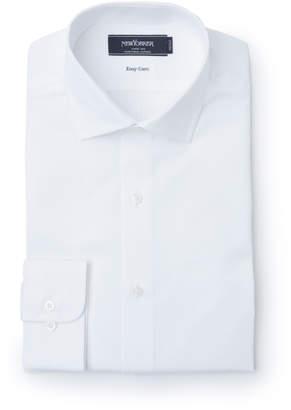 NEWYORKER men's 【クリアランスセール】【ストレッチイージーケア】シャドードビーストライプ / 長袖スリムフィットショートドレスシャツ