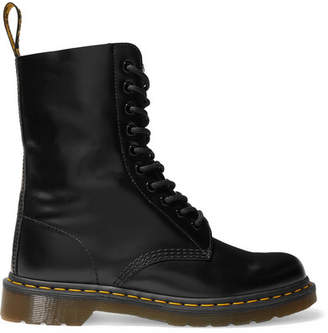 Marc Jacobs Dr. Martens Leather Ankle Boots - Black