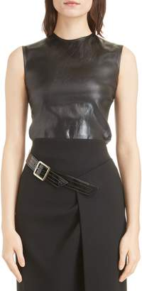 Givenchy Faux Leather Tank Top