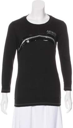 Armani Exchange Embellished Knit Top