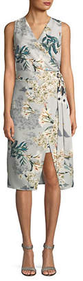 ABS by Allen Schwartz COLLECTION Sleeveless Printed Wrap Dress