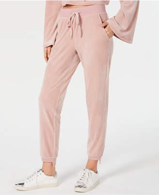 Material Girl Juniors' Step-Hem Velour Sweatpants